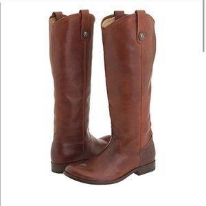 Frye Melissa Tall Cognac Leather Riding Boots